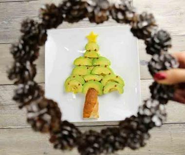アボカドのクリスマスツリー