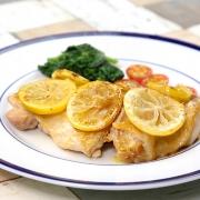 鶏肉のレモンバターソース