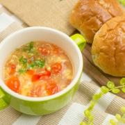 トマトと卵のサンラータン風スープ