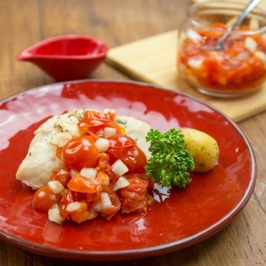 チェリートマトの冷製マリネサラダ