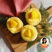 パイナップルのレンジ蒸しパン