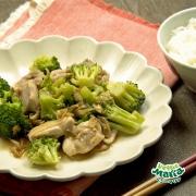 ブロッコリーと鶏肉のザーサイ炒め