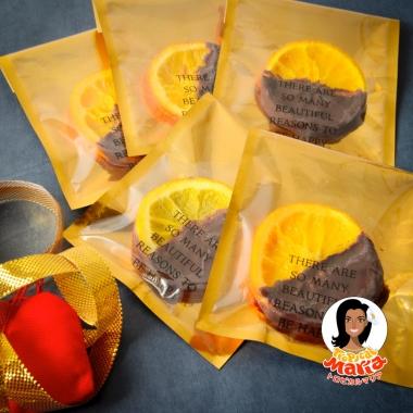 バレンタインデーオレンジチョコレート