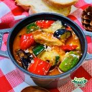 簡単レシピ!グリル野菜ミックスのトマト煮込み
