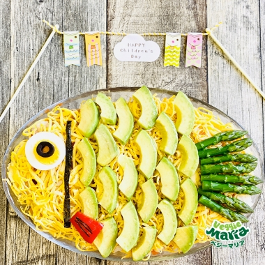 子どもと作ろう!!カリフラワーライスの鯉のぼり寿司